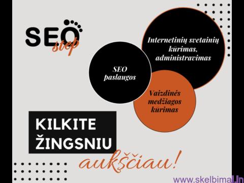 Internetinių svetainių kūrimas, administravimas bei SEO optimizavimas