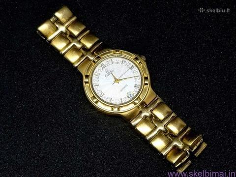 Šveicariškas auksuotas 23K CORAL laikrodukas