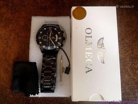 OLMECA solidi juoda klasika firminėje dėžutėje